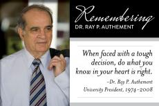 Remembering Dr. Ray P. Authement